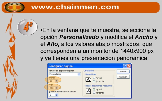 Fondo panoramico 16:10 para Power Point (PPT PPS), Open Office Impress y monitores