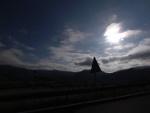 Atardecer sobre Santullan desde la autopista A8